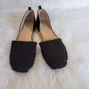 Tahari Black Petal Espadrilles Size 8